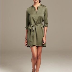Banana Republic Olive Shirtdress